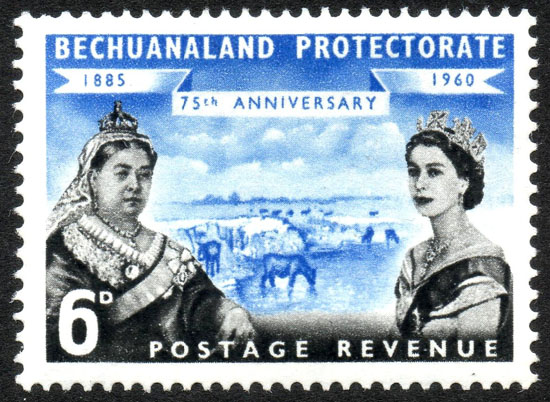1960_6d_Bechuanaland_Protectorate_stamp