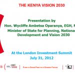 The Kenya Vision 2030